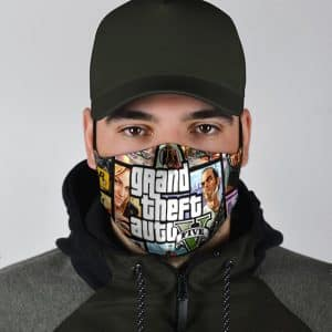 Grand Theft Auto V Classic Cover Artwork Cool Face Mask