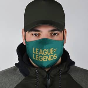 Dope League Of Legends Logo Teal Blue Cloth Face Mask