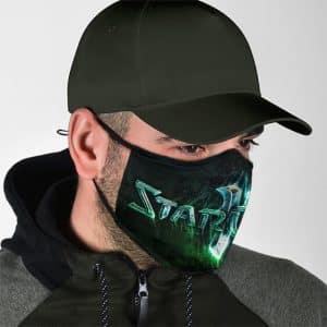 StarCraft 2 Logo Protoss Awesome Black Filtered Face Mask