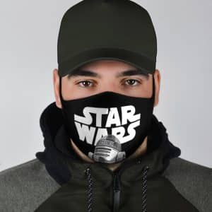 Classic Star Wars Droid R2D2 Black Dope Cloth Face Mask
