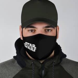 Star Wars Classic Logo Minimalistic Black Cloth Face Mask