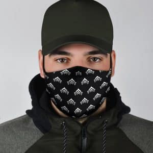 Cool Warframe Logo Pattern Black Filtered Face Mask