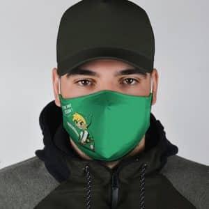 Link I'm Not Zelda Adorable Artwork Green Cloth Face Mask