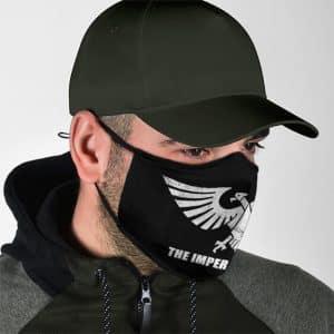 Warhammer 40k Imperium Of Man Logo Black Face Mask