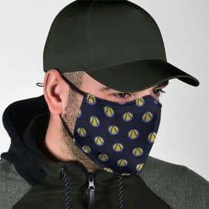 Dope Borderlands Logo Pattern Navy Blue Cloth Face Mask