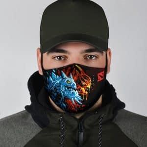 Twin Headed Dragon Jakiro Dota 2 Amazing Cloth Face Mask