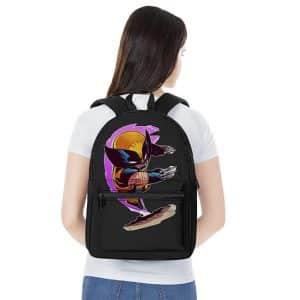Furious Wolverine Battle Pose Chibi Art Dope Backpack