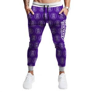 Guardian of the Galaxy Star-Lord Pattern Purple Joggers