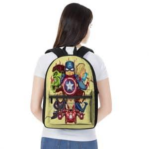 Marvel Avengers Squad Members Chibi Style Cute Backpack