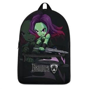 Marvel Badass Gamora Holding Sword Chibi Art Backpack Bag
