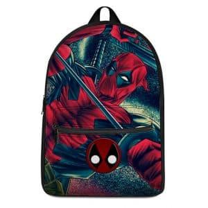 Marvel Comics Epic Deadpool Sword Play Backpack Bag
