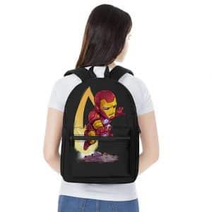 Marvel Comics Tony Stark Iron Man Chibi Art Knapsack Bag