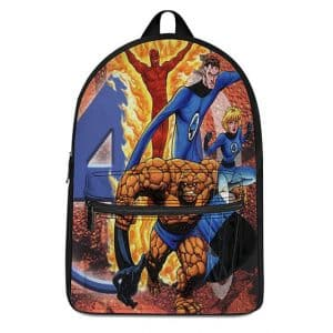 Marvel Fantastic 4 Classic Comic Style Design Knapsack Bag