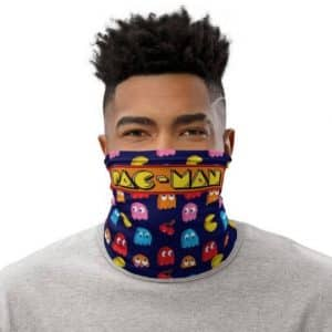 Awesome Pac-Man 8bit Ghosts And Cherry Pattern Neck Gaiter