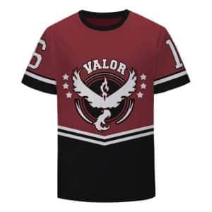Pokemon GO Team Valor Emblem 16 Baseball Jersey Red Characters T-Shirt