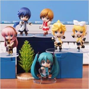 Project Diva Chibi Miku Rin Len Luka Kaito & Meiko Toy Set