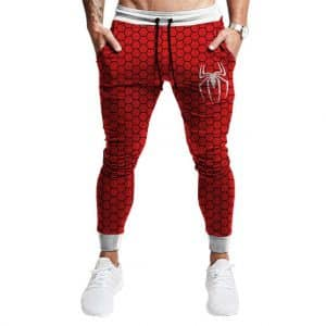 Simple Spider-Man Logo Tessellate Pattern Red Joggers