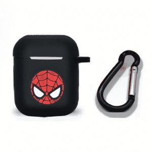 Spider-Man Head Logo Black Airpods & Airpods Pro Case