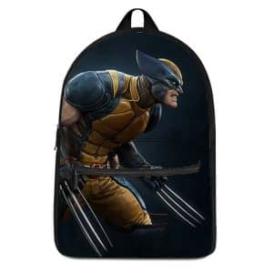 X-Men Mutant Angry Wolverine Battle Stance Badass Backpack