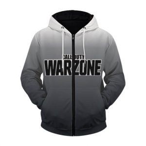 Call Of Duty Warzone Logo Army Ranger Gray Zip Up Hoodie