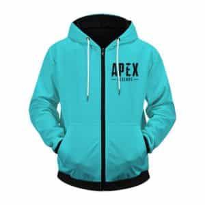 Apex Legends Lifeline Iconic Pose Sea Blue Zip Up Hoodie