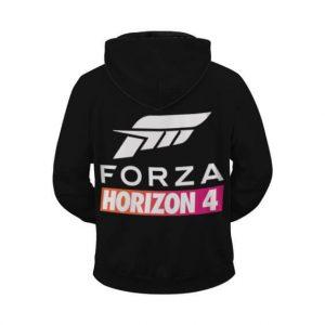 Forza Horizon 4 Logo Awesome Racing Black Zip Up Hoodie