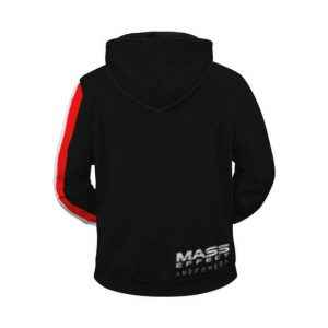 Cool Mass Effect N7 Special Forces Logo Black Zip Up Hoodie