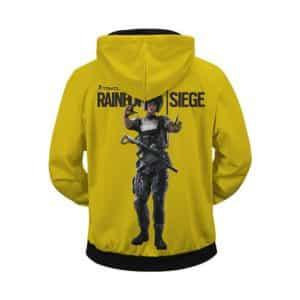 Rainbow Six Siege Logo Operator Mira Yellow Zip Up Hoodie