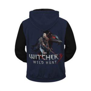 Witcher III Wild Hunt Battle Ready Geralt Dope Zip Up Hoodie