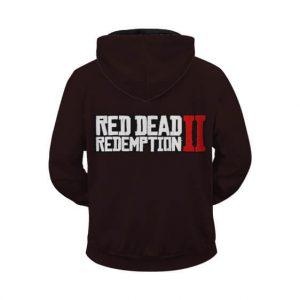Red Dead Redemption 2 Arthur Morgan Black Zip Up Hoodie