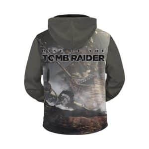 Rise Of The Tomb Raider Injured Lara Croft Zip Up Hoodie