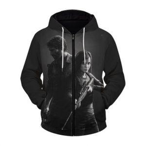 The Last Of Us Joel And Ellie Iconic Pose Zip Up Hoodie Jacket