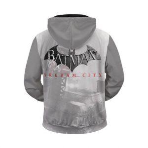 Batman Arkham City Cover Artwork Cool Zip Up Hoodie Jacket