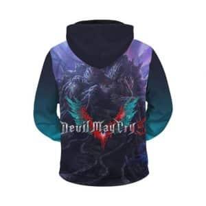 Devil May Cry 5 Dante Nero & V Versus Urizen Zip Up Hoodie