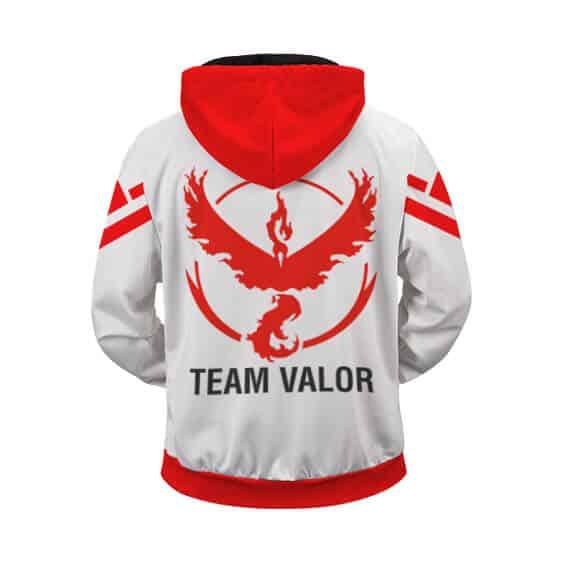 Pokemon Go Team Valor Emblem Cool Zip Up Hoodie
