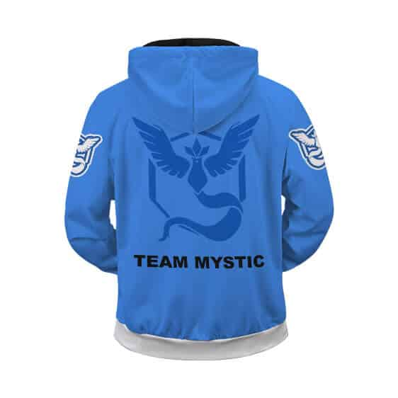 Pokemon Go Team Mystic Awesome Crest Zip Up Hoodie