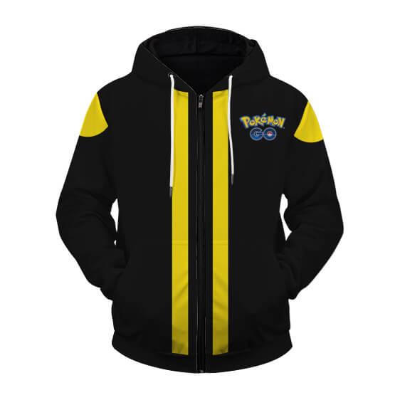 Pokemon Go Team Instinct Stunning Logo Zip Up Hoodie