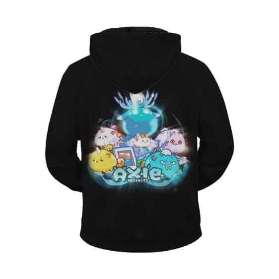 Axie Infinity Adorable Axies Artwork Black Zip Up Hoodie Jacket