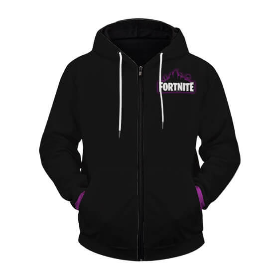 Fortnite The Raven Legendary Outfit Black Zip Up Hoodie