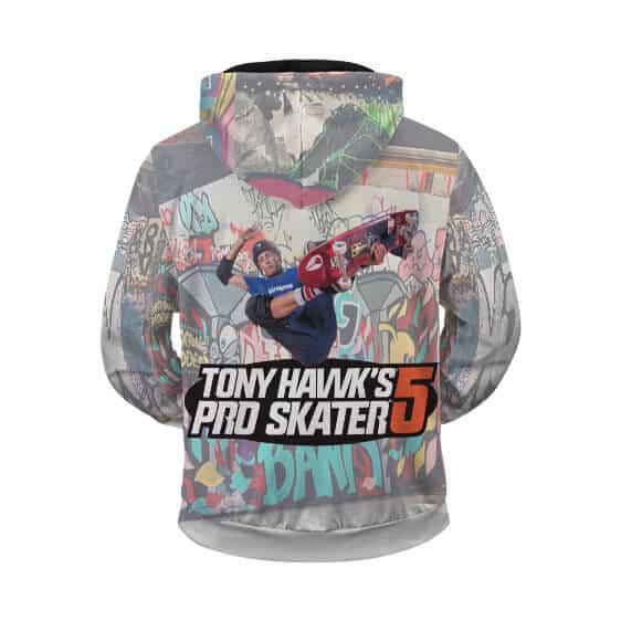 Tony Hawk's Pro Skater Wall Art Graffiti Cool Zip Up Hoodie