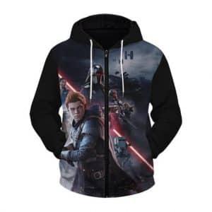 Star Wars Jedi Fallen Order Artwork Cal Kestis Zip Up Hoodie