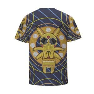 Acid Pikachu Stylish Pokemon Go Stripes Cool Streetwear 3D T-Shirt