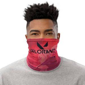 Valorant Logo Jett Silhouette Cool Raspberry Pink Tube Mask