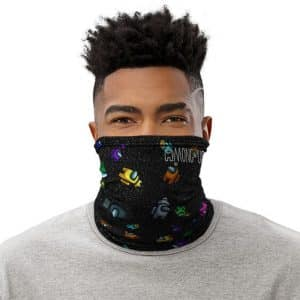 Among Us Adorable Crewmates In Space Black Neck Warmer