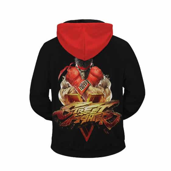 Street Fighter V Logo Ryu Ready For Showdown Zip Up Hoodie