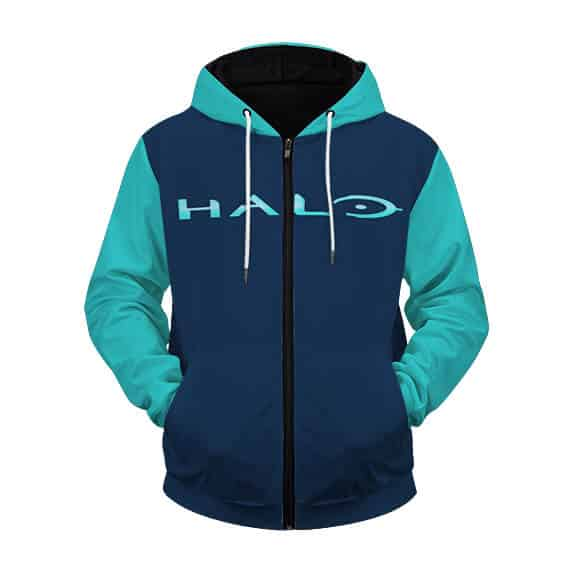 Halo Blue Spartan Artwork Ready For Battle Zip Up Hoodie