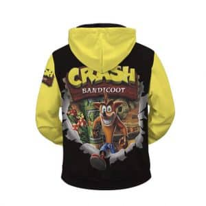 Crash Bandicoot Energetic Pose Amazing Zip Up Hoodie Jacket