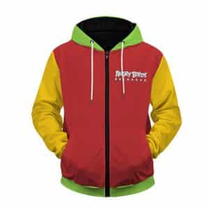 Angry Birds Reloaded Vibrant Colors Design Zip Up Hoodie